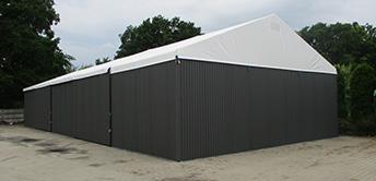 dupla tetőponyva ipari csarnok barracon